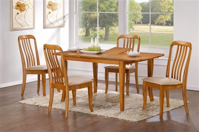 36 Quot X 48 Quot Solid Wood Table Opens To 60 Quot Light Oak Finish